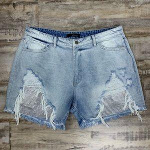 Renegades Distressed Denim Shorts - Light Wash